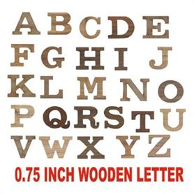 0.75 inch Height wooden letter - Adgreek